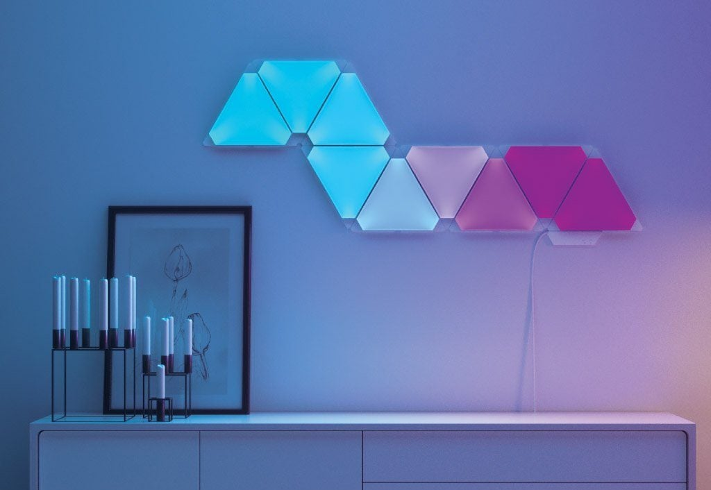 Amsted Design-Build lighting options Nanoleaf light panels